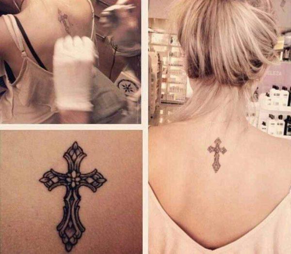 Small tattoo cross