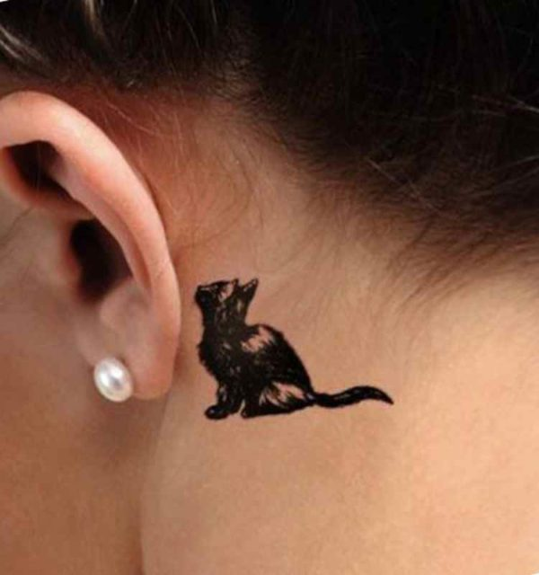 Small tattoos designs behind ear