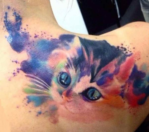 Cute tattoo ideas cat