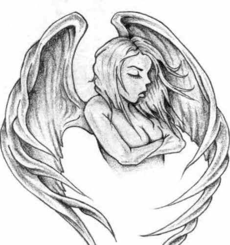 Angel wings tattoo art