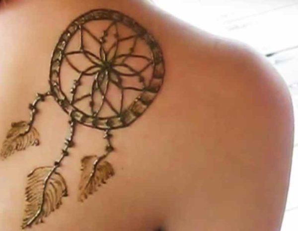 Dreamcatcher henna tattoo designs