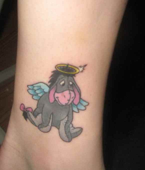 Eeyore angel wings tattoo