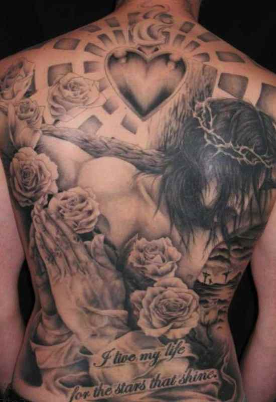 Jesus tattoo of angel