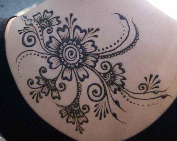 Back henna tattoos
