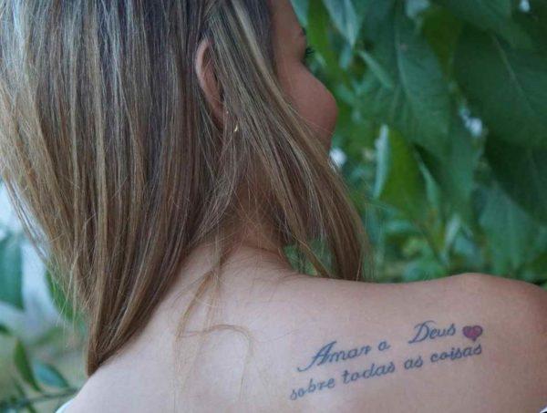 Amar a Deus Faith Tattoo