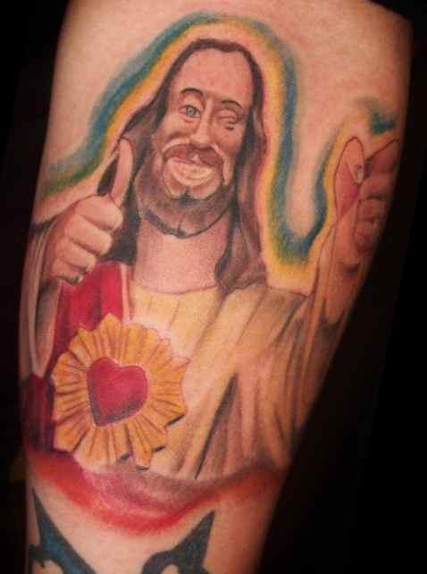 Buddy Christ Funny Faith Tattoo