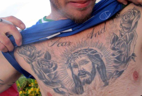 Jesus Chest Tattoo