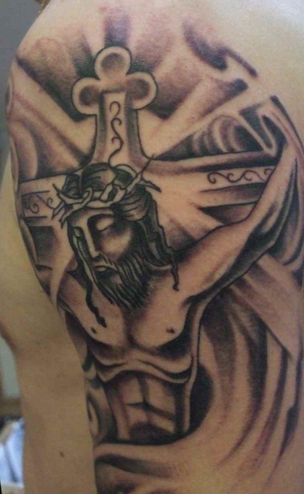 Jesus Cross Tattoo