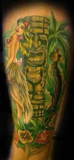 Hawaiian tiki tattoo