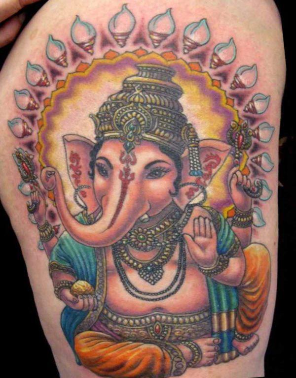 Buddha elephant tattoo meaning