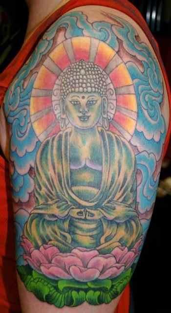 Buddha statue tattoo meaning