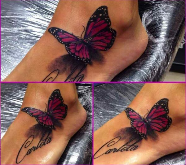 Butterfly female tattoo