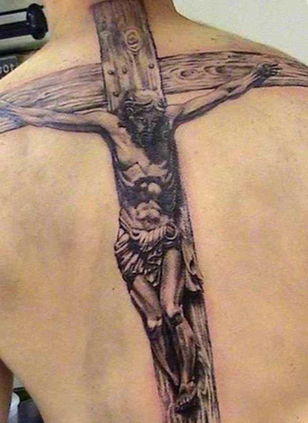 Christ on the cross tattos for men