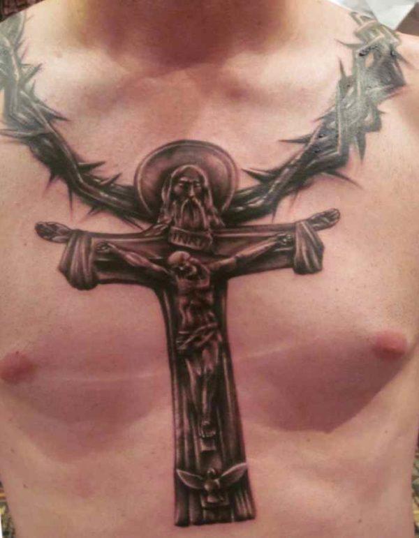 Christ on the-cross tattos for men