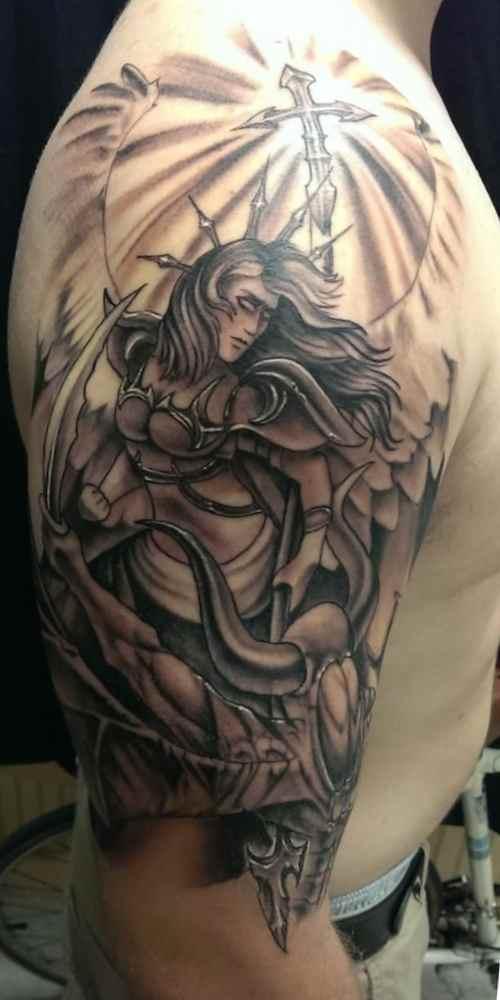 Christian tattoos for men angel