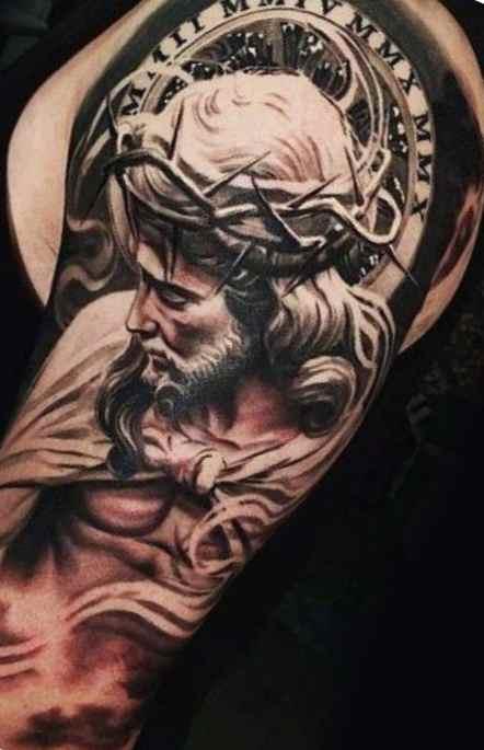 Christian tattos for men arm