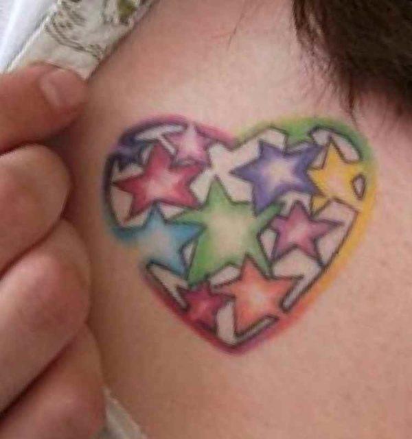 Female tattoo heart