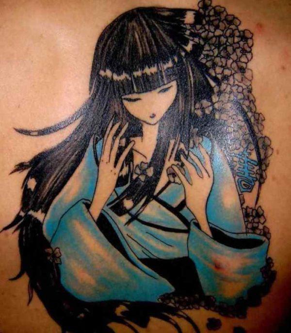 Geisha tattoo for girls