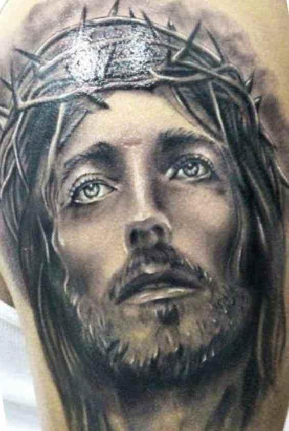 Jesus tattoo for men