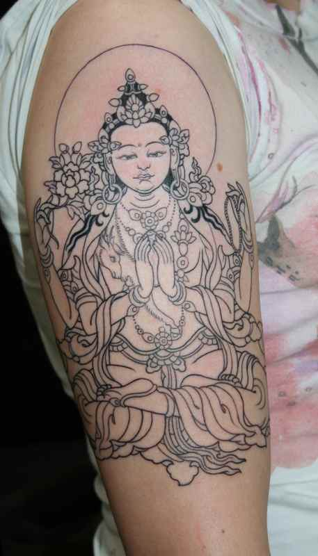 Lady Buddha tattoo meaning
