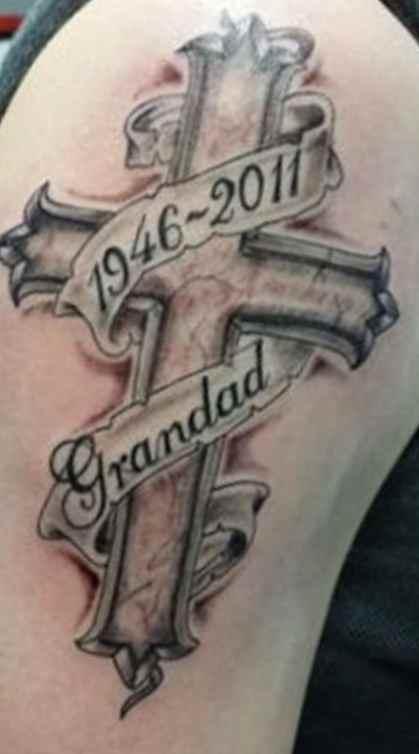 Memory tattoo for men