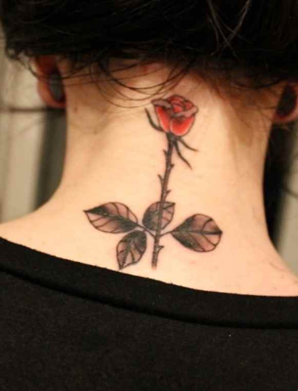 Pretty back female tattoo idea