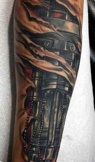 Robot ankle tattoo