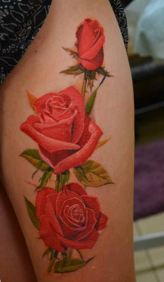 Rose female tattoo ideas