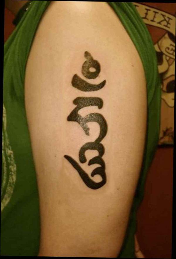 Sanskrit buddha tattoo meaning