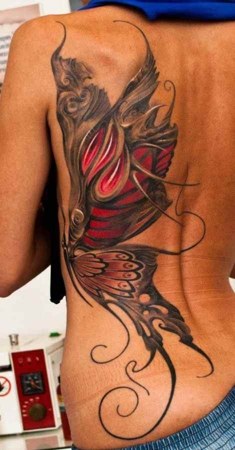 Side female tattoo
