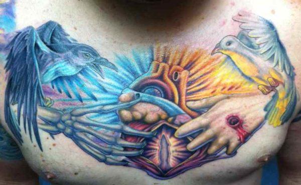 Tattoo ideas for good vs evil