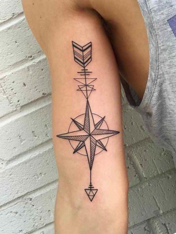Tribal tattoo designs arrow