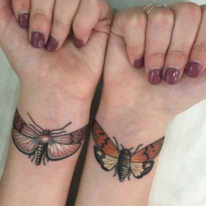 Butterfly tattoo wrist