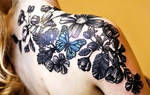 Butterfly tattoo pictures shoulder