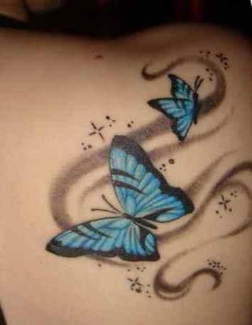 Rip butterfly tattoo